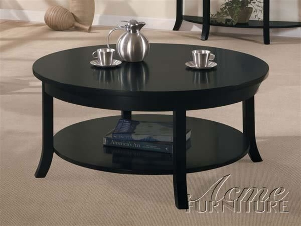 Stunning Top Espresso Coffee Tables With Regard To Gardena Round Coffee Table In Dark Espresso Finish Acme  (Image 46 of 50)