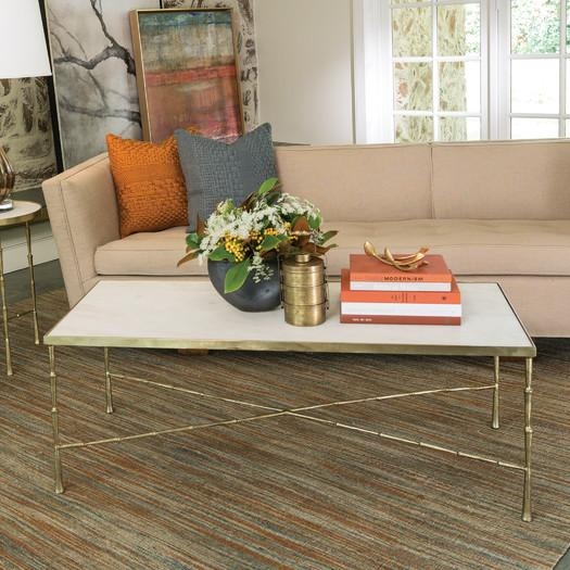 Stunning Top Gold Bamboo Coffee Tables With Marble Bamboo Motif Gold Coffee Table (View 11 of 50)