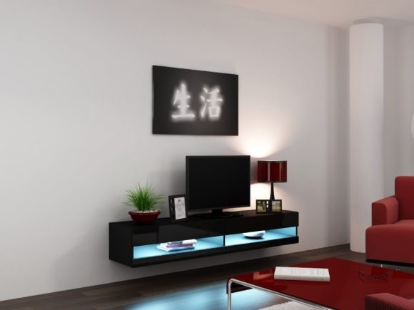 Stunning Top Led TV Cabinets Pertaining To Furniture Appealing Floating Tv Cabinets Brings Marvelous Design (Image 45 of 50)