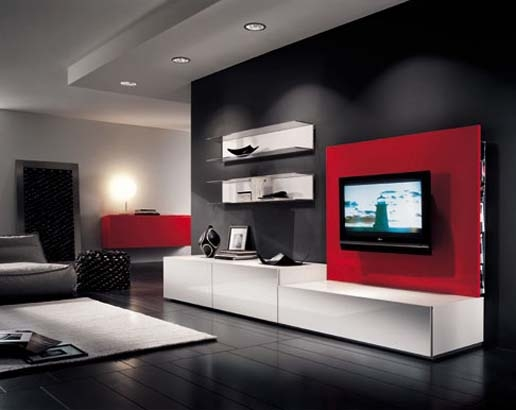 Stunning Top Red Modern TV Stands Intended For Popular Types Of Modern Tv Stands Elliott Spour House (Image 46 of 50)