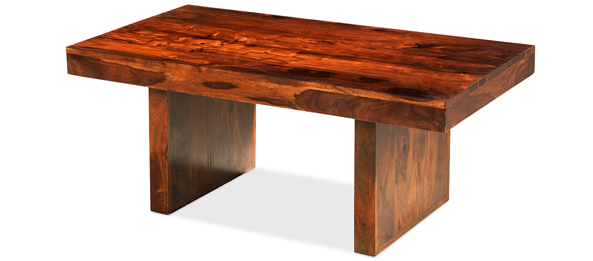 Stunning Top Sheesham Coffee Tables Regarding Cube Sheesham Block Coffee Table Quercus Living (View 50 of 50)