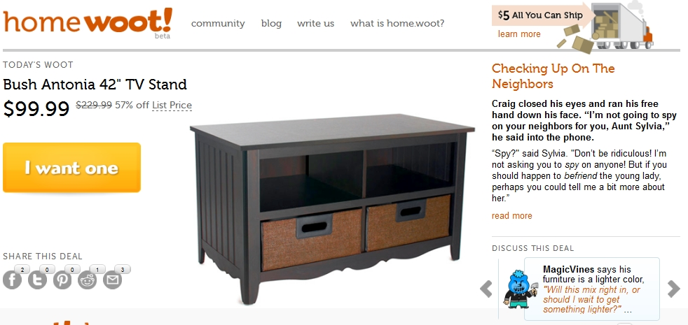 Stunning Top TV Stands With Baskets In Bush My Space Country Antonia 42 Tv Stand For 10499 Shipped (Image 46 of 50)