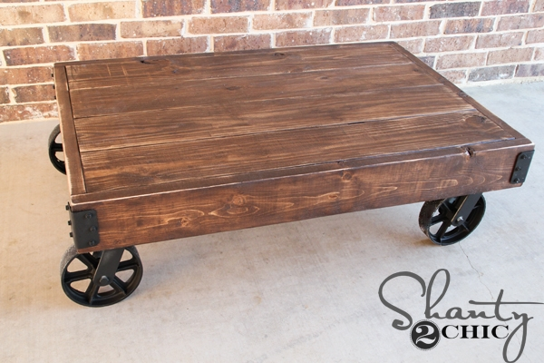 Stunning Top Wheels Coffee Tables For Diy Factory Cart Coffee Table Shanty 2 Chic (View 4 of 50)
