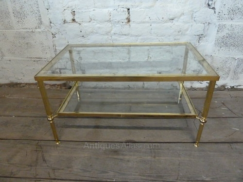 Stunning Trendy Antique Brass Glass Coffee Tables With Regard To Vintage Brass Lucite And Glass Coffee Table At 1stdibs Antique (Image 43 of 50)