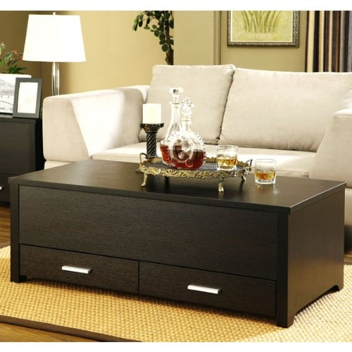 Stunning Trendy Coffee Tables With Box Storage With Garretson Storage Box Coffee Table In Espresso Finish (Image 49 of 50)