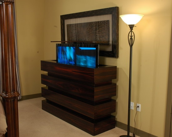 Stunning Trendy Contemporary TV Cabinets For Flat Screens Inside Flat Screen Tv Lift Cabinets Houzz (Image 49 of 50)