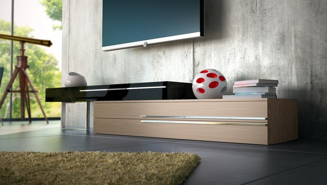 Stunning Trendy Contemporary TV Stands Pertaining To Gramercy Contemporary Modern Tv Stands Modloft Modern (Image 49 of 50)