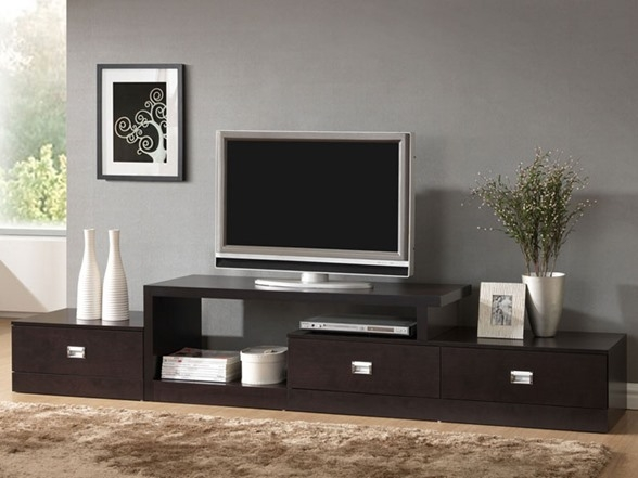 Stunning Trendy Extra Long TV Stands With Regard To Baxton Studio Marconi Tv Stand (View 5 of 50)