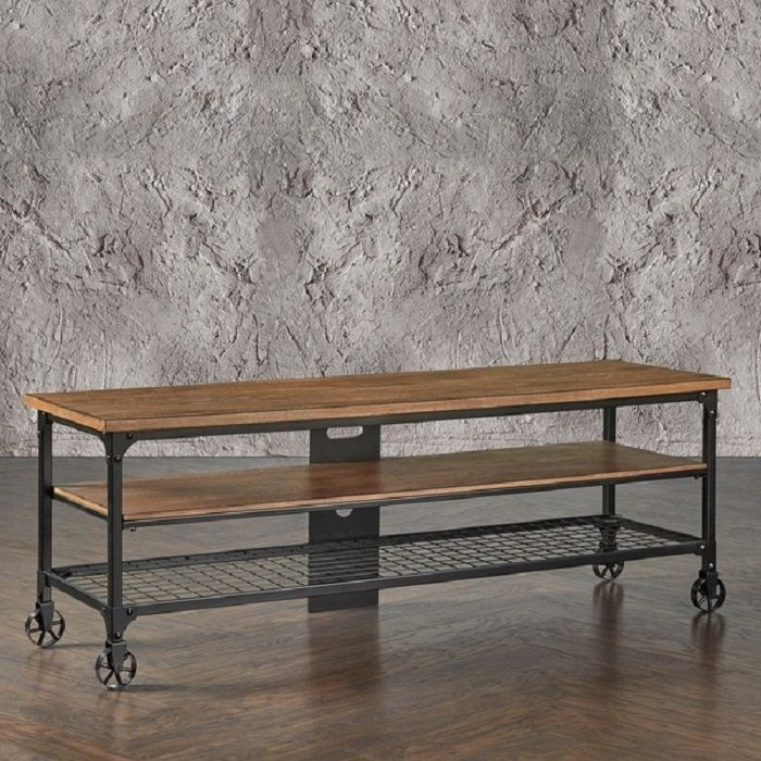 Stunning Trendy Industrial TV Stands Pertaining To Rustic Entertainment Center Industrial Tv Stand Media Console (Image 47 of 50)