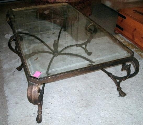 Stunning Trendy Iron Glass Coffee Table Pertaining To Iron Glass Coffee Table Theltco (View 17 of 50)
