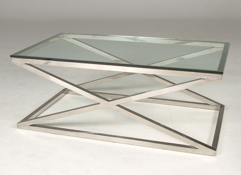 Stunning Trendy Modern Chrome Coffee Tables Throughout Coffee Table Antique Chrome Coffee Table Legs White And Chrome (Image 37 of 40)