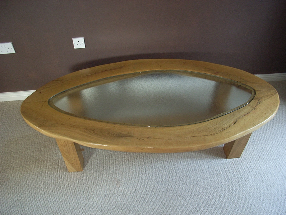 Stunning Trendy Oak And Glass Coffee Tables Inside Handmade Glass Top Oak Coffee Table Anderson Oak Designs (View 41 of 50)