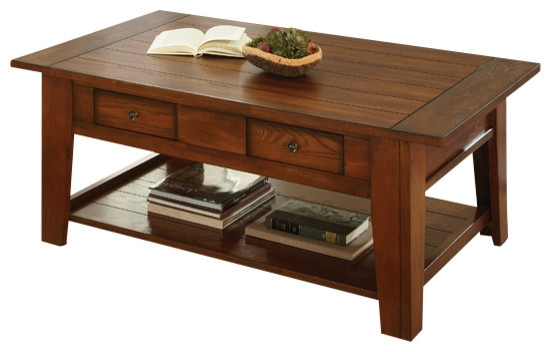 Stunning Trendy Oak Coffee Table Sets In Steve Silver Desoto 4 Piece Coffee Table Set With Casters In Dark (Image 44 of 50)