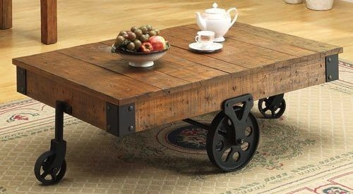 Stunning Trendy Reclaimed Wood Coffee Tables Intended For Reclaimed Wood Coffee Tables Recycled Things (View 15 of 50)