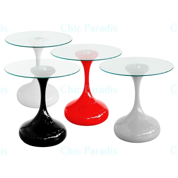 Stunning Trendy Red Gloss Coffee Tables Pertaining To Cassandra High Gloss Side Table Black White Red Or Grey Chic (Image 35 of 40)