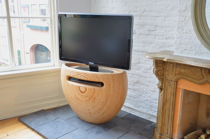 Stunning Trendy Round TV Stands Inside Tv Stand Lon Van Zanten (Image 47 of 50)