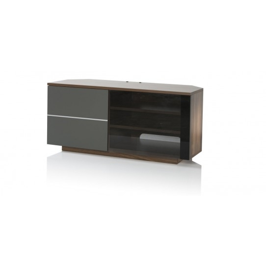 Stunning Trendy White Corner TV Cabinets Intended For Ukcf New Tokyo Walnut Corner Tv Cabinet Big Av (Image 42 of 50)