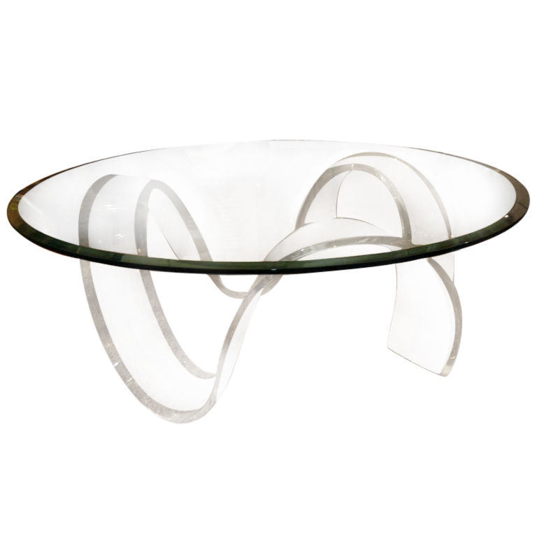 Stunning Unique Ava Coffee Tables With Regard To Latest Alluring Round Acrylic Coffee Table Ava Modern Round Clear (Image 48 of 50)