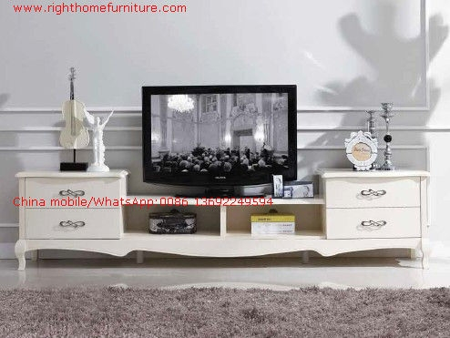 Stunning Unique Classic TV Stands Regarding Ivory Classic Tv Stand Wood Furniture Audiovisual Cabinet In White (Image 47 of 50)