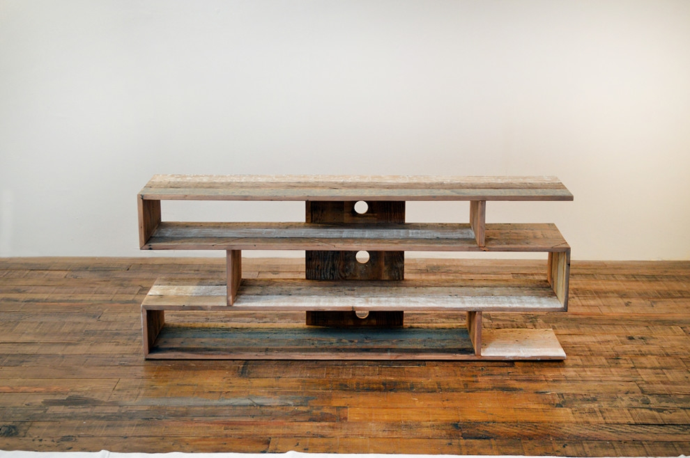 Stunning Unique Contemporary Wood TV Stands Pertaining To Gorgeous Reclaimed Wood Tv Stand In Entry Farmhouse With Console (Image 40 of 50)