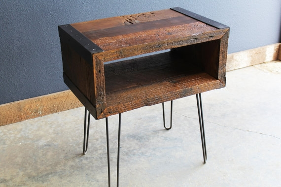 Stunning Unique Industrial TV Stands With Regard To Industrial End Side Table Tv Stand From Old Barnwood With (Image 48 of 50)