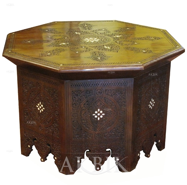 Stunning Unique Mother Of Pearl Coffee Tables Within Mediterranean Levantine Syrian Furniture Inlaid With Mother Of (Image 40 of 50)