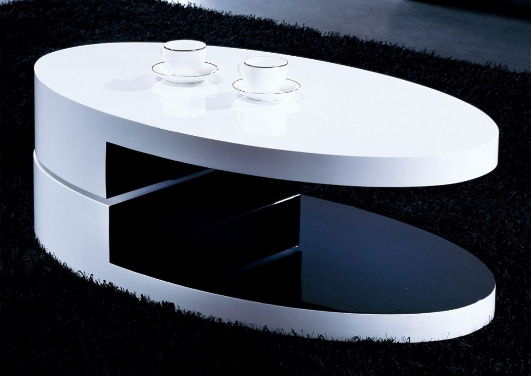 Stunning Unique Oval Gloss Coffee Tables Inside Black Coffee Table Cool Square On Are Here High Gloss Oval With (View 37 of 40)