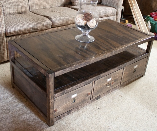 Stunning Unique Rustic Coffee Tables With Bottom Shelf Regarding Minimalist Home Design With Modular Coffee Table With Glass Top (Image 47 of 50)
