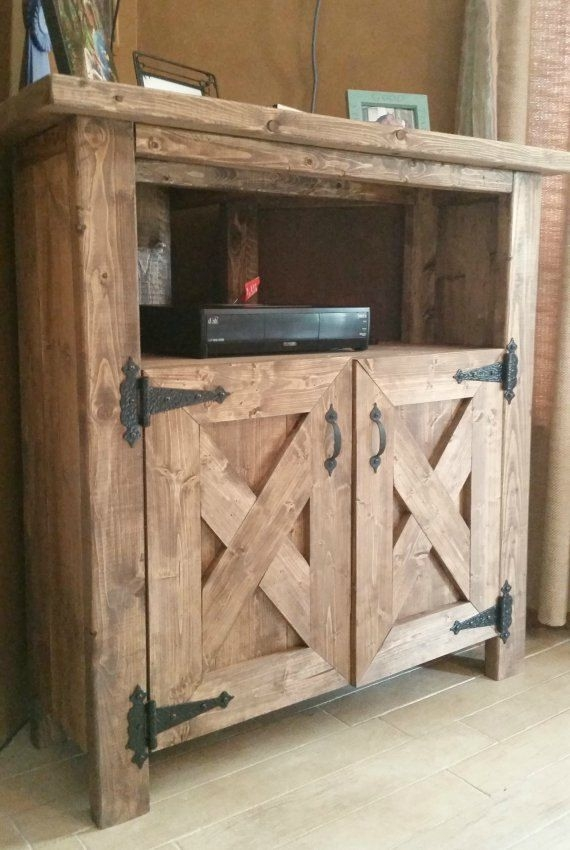 Stunning Unique Rustic Wood TV Cabinets Inside 25 Best Rustic Tv Stands Ideas On Pinterest Tv Stand Decor (View 14 of 50)