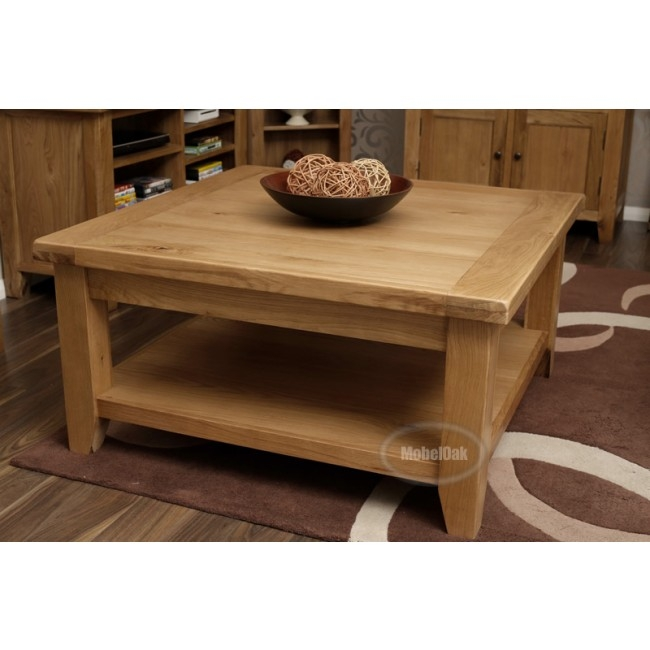 Stunning Unique Square Oak Coffee Tables With Large Square Coffee Table (View 4 of 50)