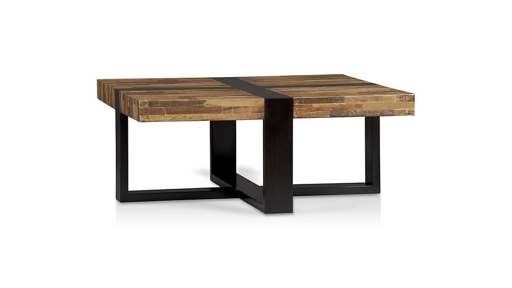 Stunning Unique Square Pine Coffee Tables Pertaining To Seguro Square Coffee Table Crate And Barrel (Image 49 of 50)