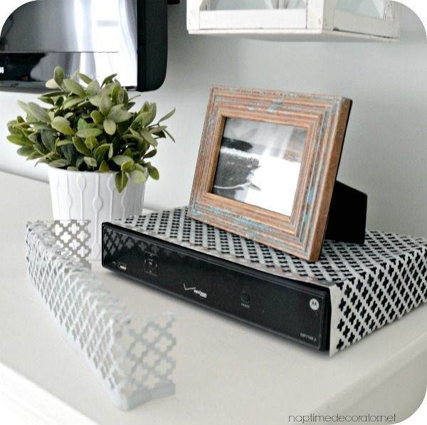 Stunning Unique TV Stands Over Cable Box In Easy Way To Hide A Cable Box Naptime Decorator Me Pinterest (Image 43 of 50)
