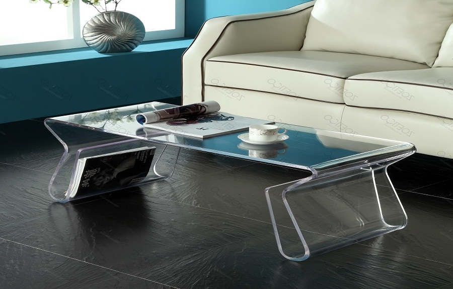 Stunning Variety Of Acrylic Coffee Tables With Magazine Rack With Coffee Table Cool Acrylic Coffee Table Design Lucite Furniture (View 37 of 40)