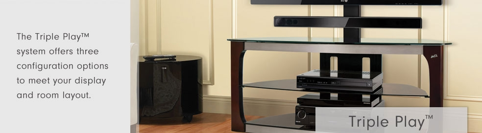 Stunning Variety Of Bell'O Triple Play TV Stands In Bello International Corporation Triple Play Stands (Image 46 of 50)