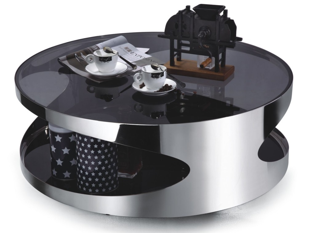 Stunning Variety Of Black Circle Coffee Tables In Modern Round Coffee Table Round Table Glass Our Designs Modern (Image 46 of 50)
