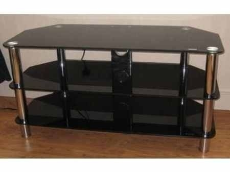 Stunning Variety Of Black Glass TV Stands With Large Black Glass Tv Stand In Belfast City Centre Belfast Gumtree (Image 45 of 50)
