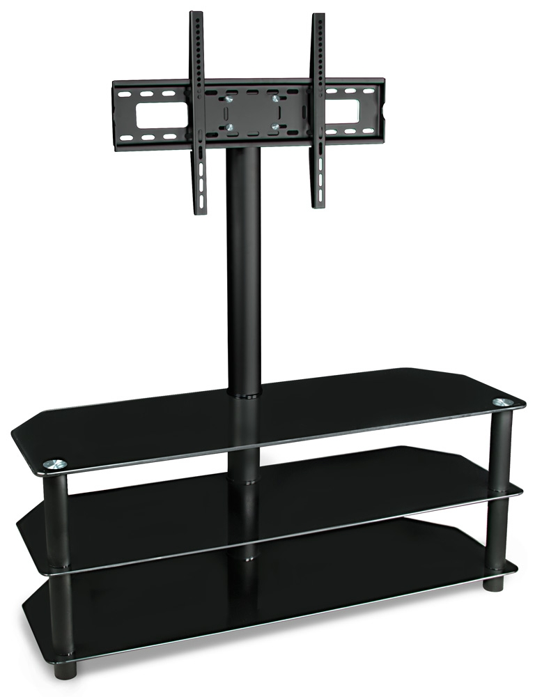 Stunning Variety Of Bracketed TV Stands Inside Tempered Glass Shelves Chicago Glass Shelving Office Star Hzn (Image 45 of 50)