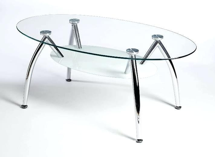 Stunning Variety Of Coffee Tables With Oval Shape Intended For Oval Glass And Iron Coffee Table Oval Glass And Metal Coffee Table (Image 46 of 50)