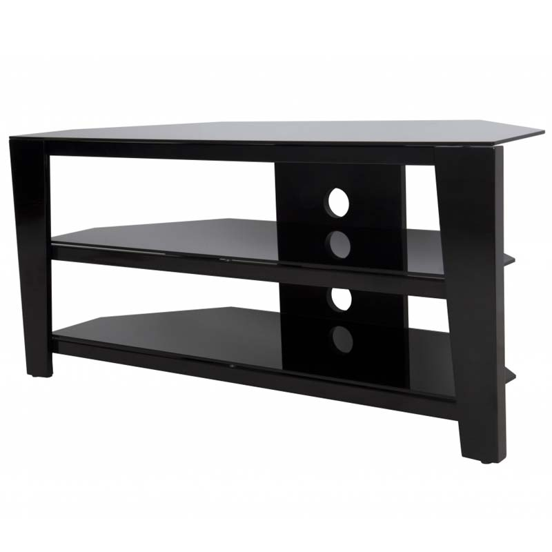Stunning Variety Of Corner 55 Inch TV Stands Pertaining To Avf Vico 55 Inch Corner Tv Stand Glossy Black Fs1050vib A (View 20 of 50)
