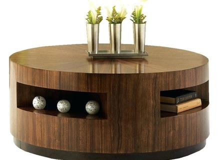 Stunning Variety Of Dark Wood Round Coffee Tables For Coffee Table Dark Wooden Round Coffee Tables With Storage (Image 44 of 50)