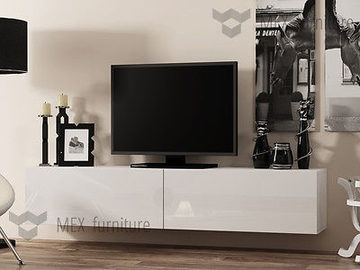 Stunning Variety Of High Gloss White TV Cabinets Intended For Tv Cabinets Collection On Ebay (Image 42 of 50)