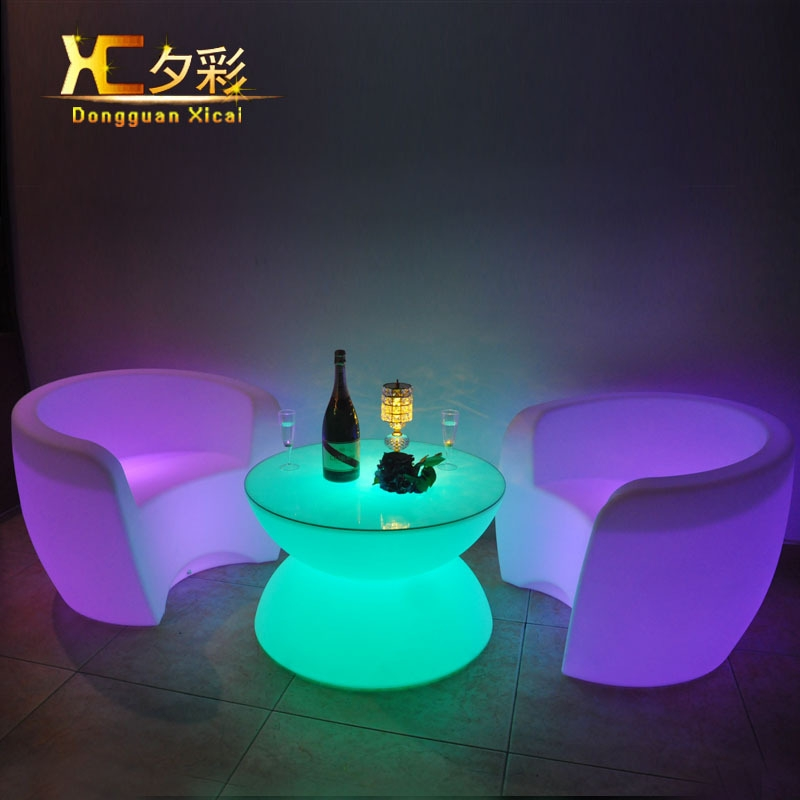 Stunning Variety Of Led Coffee Tables With Aliexpress Buy Plastic Led Coffee Table Round Wine Tea End (Image 47 of 50)