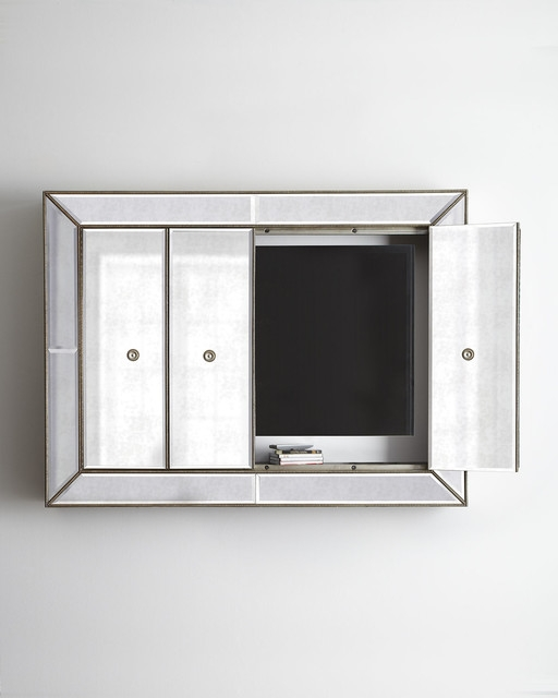 Stunning Variety Of Mirrored TV Cabinets For Gallery Images And Information Mirrored Tv Wall Cabinet Mirrored (View 6 of 50)