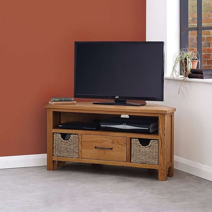 Stunning Variety Of Oak Corner TV Stands Intended For Best 25 Oak Corner Tv Stand Ideas On Pinterest Corner Tv (Image 45 of 50)