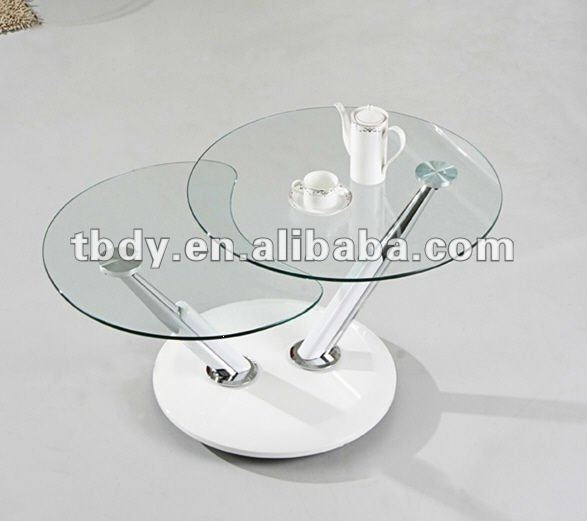 Stunning Variety Of Revolving Glass Coffee Tables With Revolving Glass Coffee Table Coffee Addicts (Image 35 of 40)