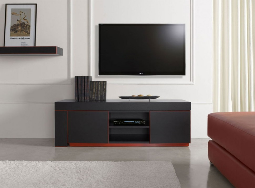 Stunning Variety Of Small Black TV Cabinets Within Living Room Astonishing Modern Black Tv Stand With Storage Unit (Image 43 of 50)