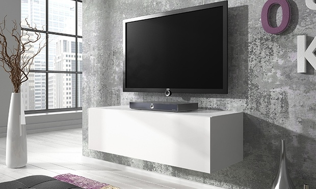 Stunning Variety Of White Gloss TV Cabinets In Floating Gloss Tv Cabinet Groupon Goods (Image 45 of 50)
