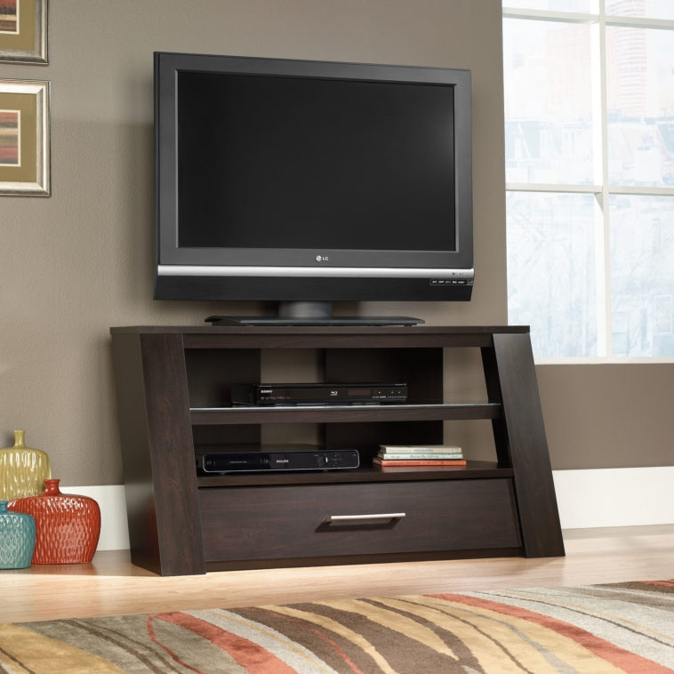 Stunning Wellknown Big TV Stands Furniture With Furniture Dark Brown Wooden Tv Stand With Media Open Shelf And (Image 46 of 50)