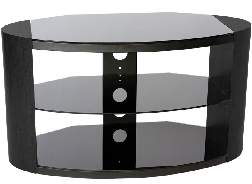 Stunning Wellknown Black Oval TV Stands Within Peerless Portland 1100 Oval Black Tv Stand Black Tv Stands (Image 44 of 50)