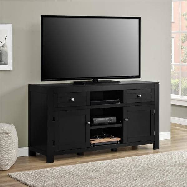 Stunning Well Known Black TV Stands In Ameriwood Home Hadley 60 Inch Black Tv Stand Free Shipping Today (Image 37 of 50)